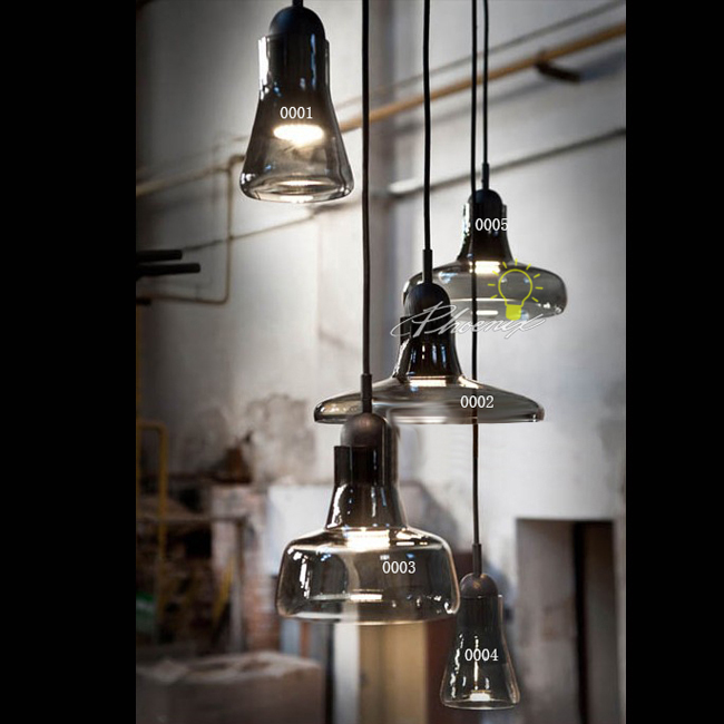 Modern Geremy Smoke Glass Pendant Lighting 9742 : Browse