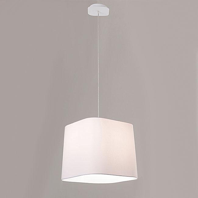 Modern Simple White Fabric Shade Pendant Lighting 9898
