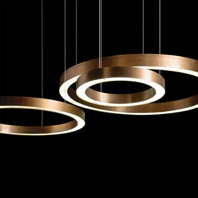 Modern Copper Ring LED Pendant Lighting 10758 Browse