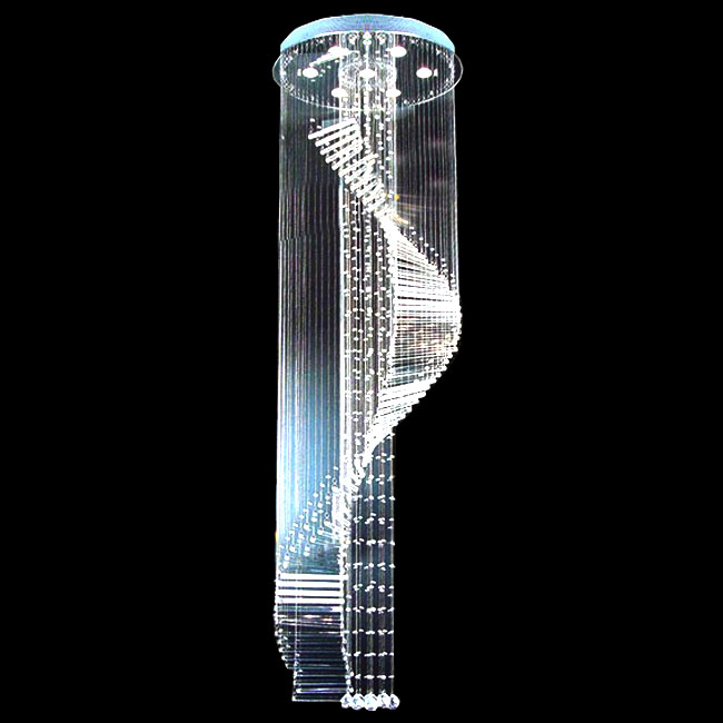 Modern Stairs Crystal Pendant Lighting 7294 Browse