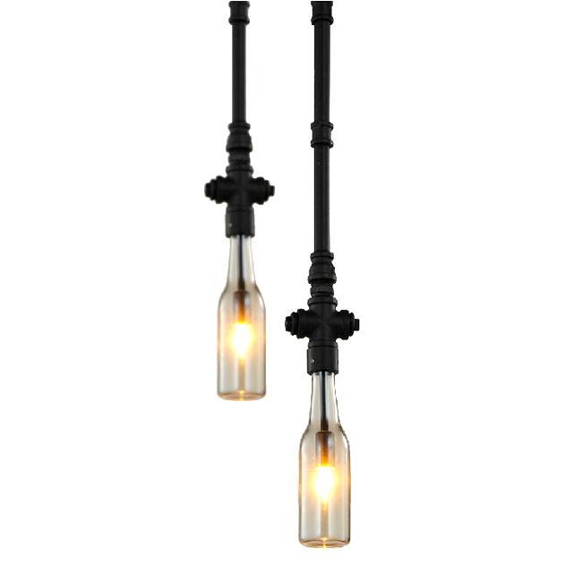 Modern Industrial Lighting: Modern Industrial Single Water Pipe Pendant Lighting 7414