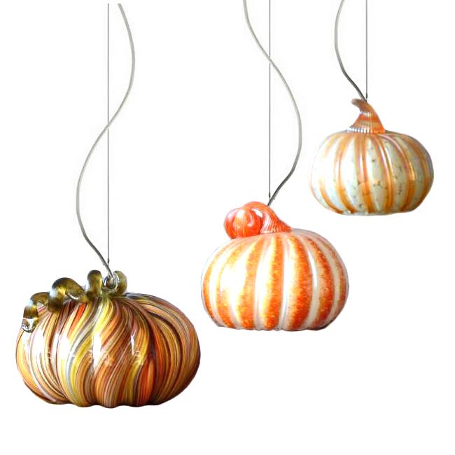 modern glass pumpkin pendant lighting 12262 browse