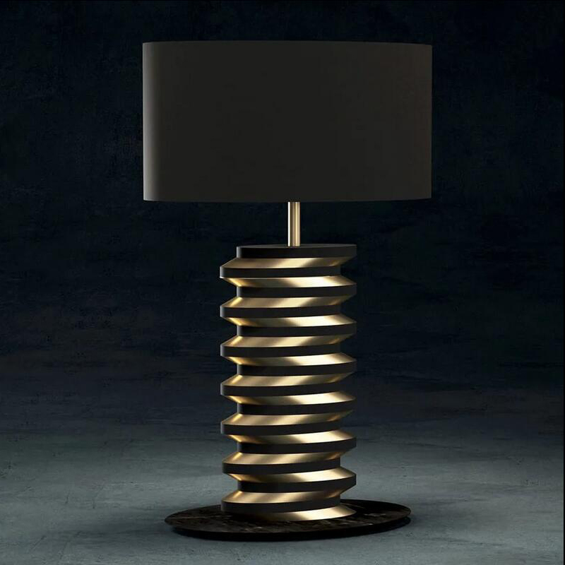 Modern Gold Plated Geometric Marble Table Lamp 19014