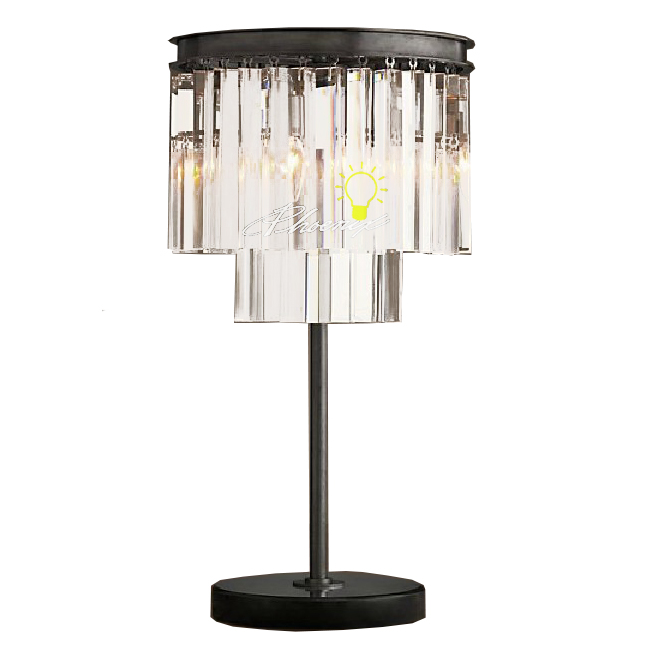 north iron and crystal table lamp 7492 browse project. Black Bedroom Furniture Sets. Home Design Ideas