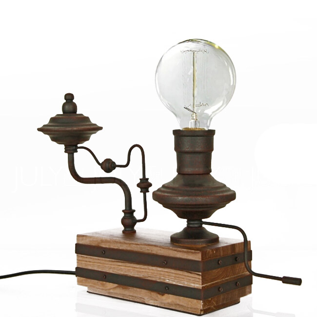Steam punk rusted water pipe table lamp browse