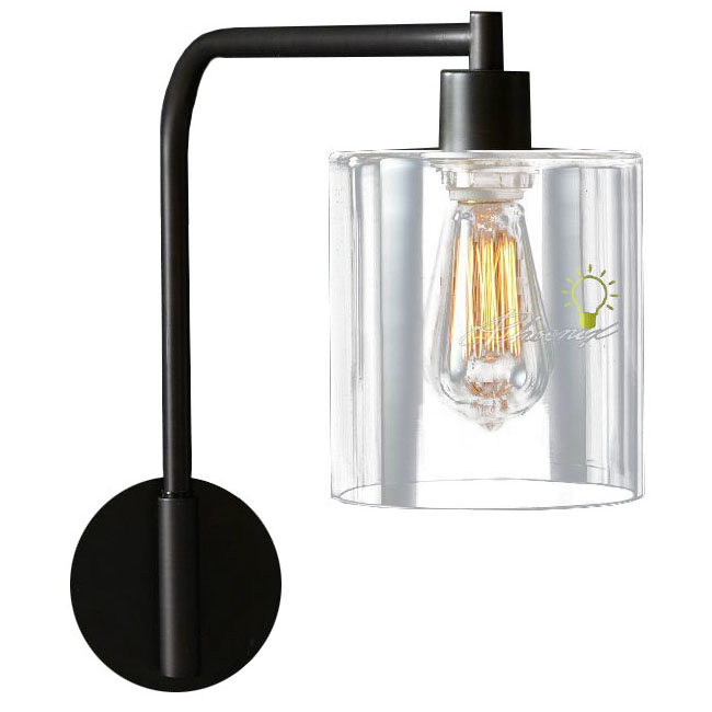 LOFT Iron and Clear Glass Shade Wall Sconce 7617 : Browse Project Lighting and Modern Lighting ...