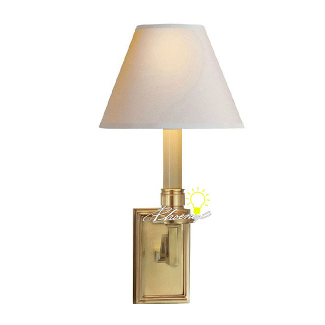 Modern Fabric Wall Lights : Modern Fabric Shade Copper Wall Sconce 8762 : Browse Project Lighting and Modern Lighting ...