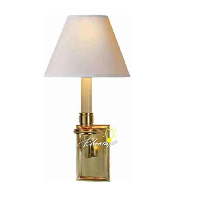 Modern Copper Wall Sconces : Modern Fabric Shade Copper Wall Sconce 8762 : Browse Project Lighting and Modern Lighting ...