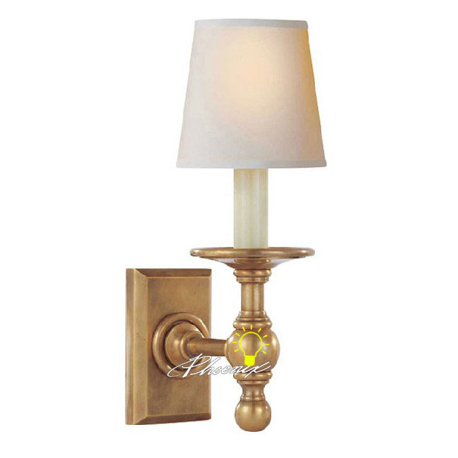 Modern Copper Wall Sconces : Modern Fabric Shade Copper Wall Sconce 8764 : Browse Project Lighting and Modern Lighting ...