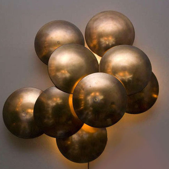 Handmade Copper Wall Sconces : Antique Country Handmade Copper Half Ball Wall Sconce 9504 : Browse Project Lighting and Modern ...