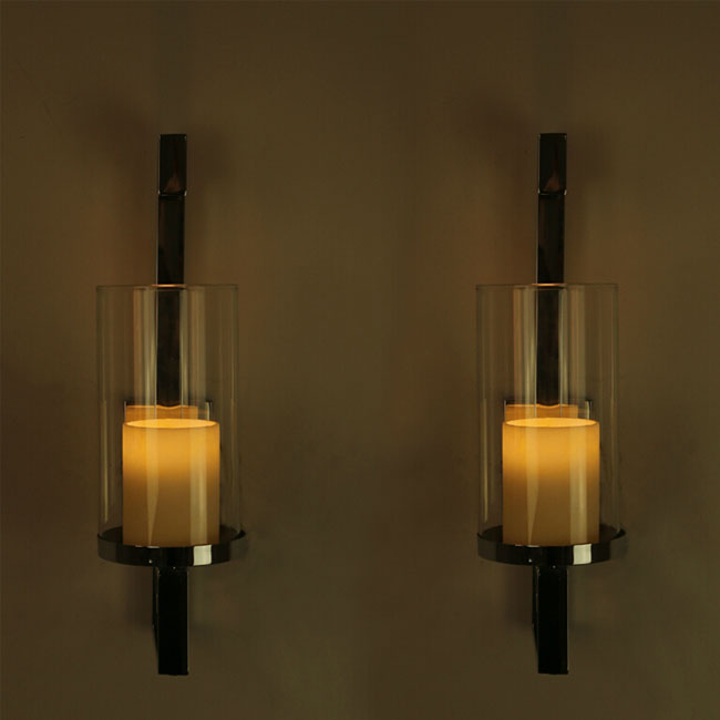 Modern Chrome Wall Sconces : Modern Chrome and 2 Layers Glass Wall Sconce 11365 : Browse Project Lighting and Modern Lighting ...