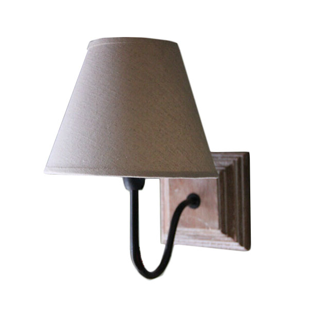 Wall Sconce With A Shade : Country Wood Canopy and Flax Shade Wall Sconce 11618 : Browse Project Lighting and Modern ...