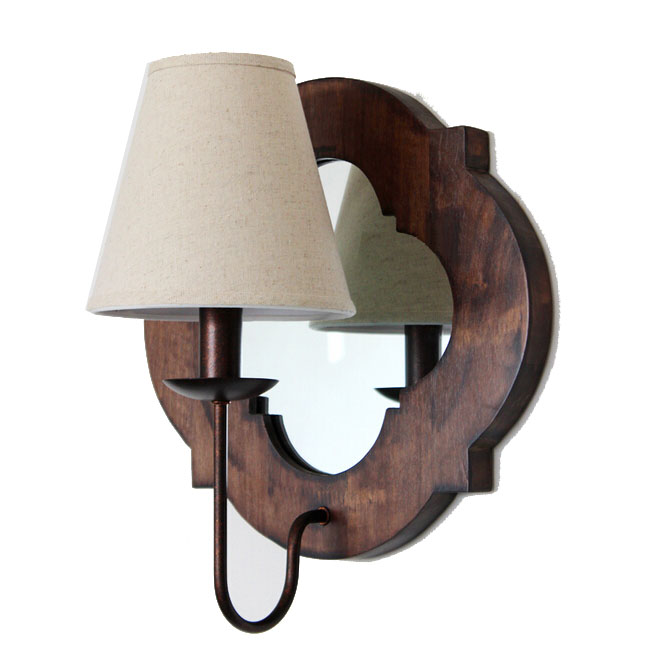 Antique Wood Wall Lamps : Antique Wood And Glass Wall sconce 11619 : Browse Project Lighting and Modern Lighting Fixtures ...